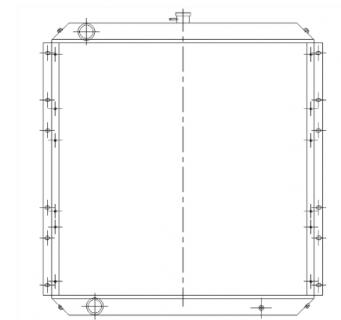 Радиатор охлаждения Hitachi ZX330, ZX350, ZX370